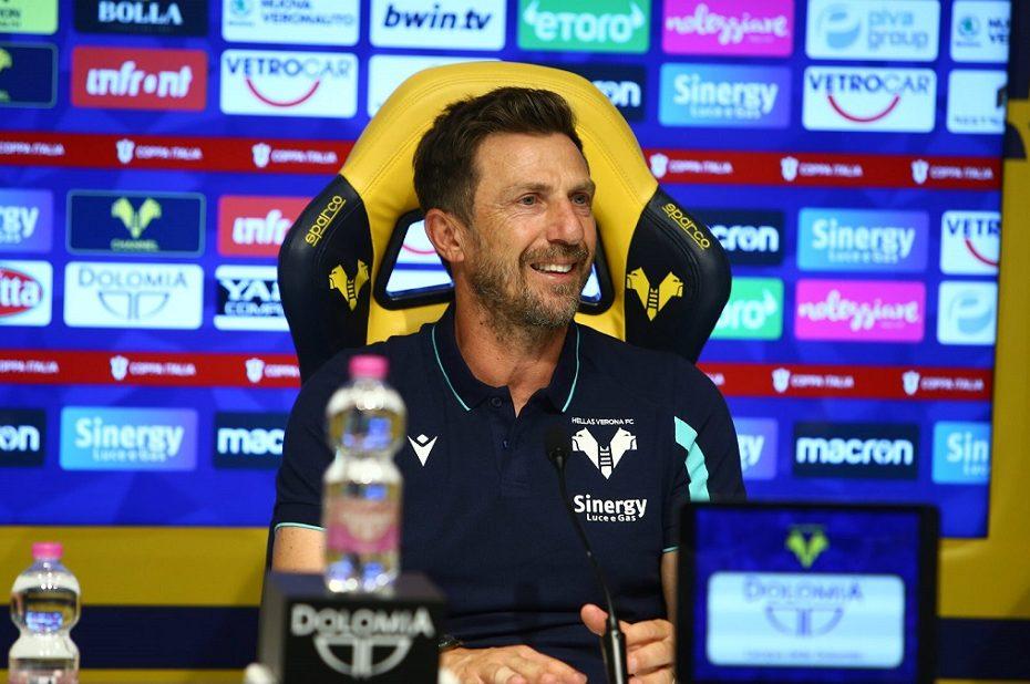 Di Francesco in conferenza presenta la sfida del Verona contro il Sassuolo