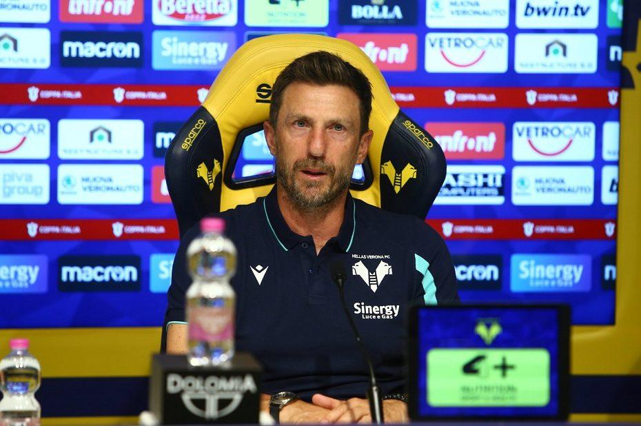 Verona: Di Francesco in conferenza stampa pre Inter