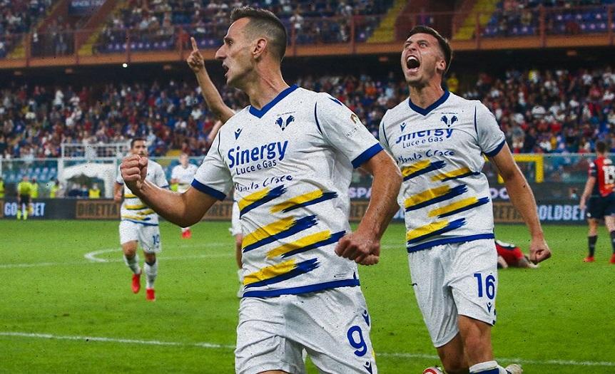 Il Verona pareggia 3-3 in casa del Genoa nel sesto turno di Serie A